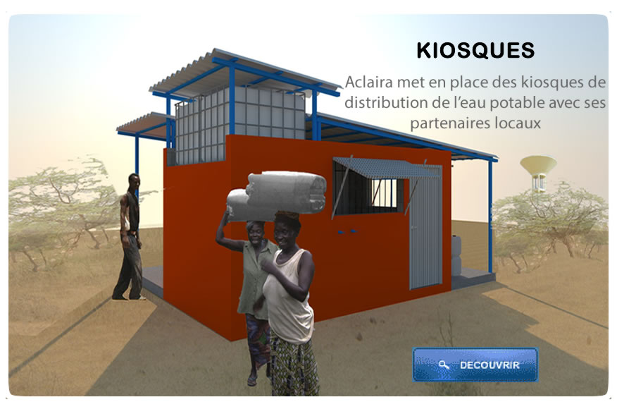 Kiosques distributions eau